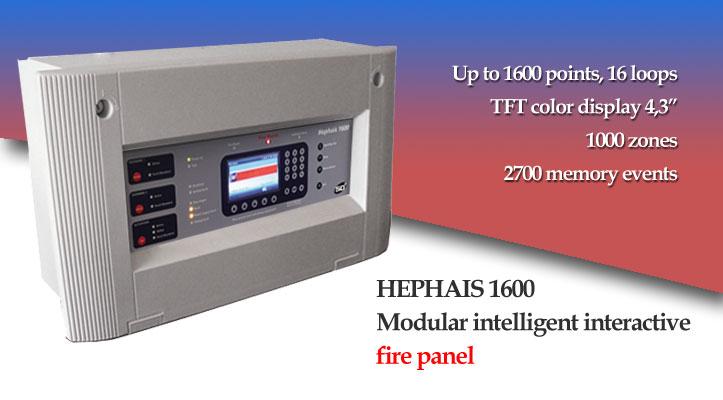 Hephais 1600 fire detection panel