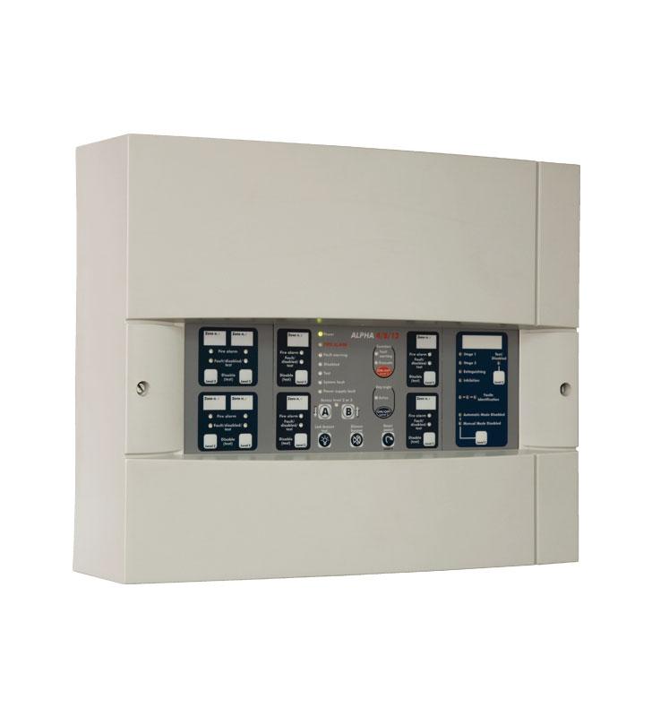 12 zones fire detection panel Alpha 4/8/12
