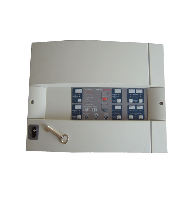 12 zones fire detection panel with fire brigade key ALPHA 4/8/12 FBKEY