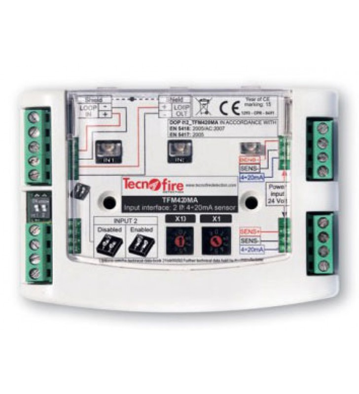 Addressable module 2 input devices 4-20mA TFM420MA
